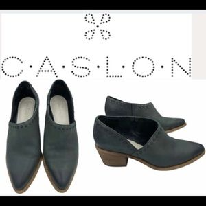 CASLON Leather Bootie Shoe With Leather Stitch